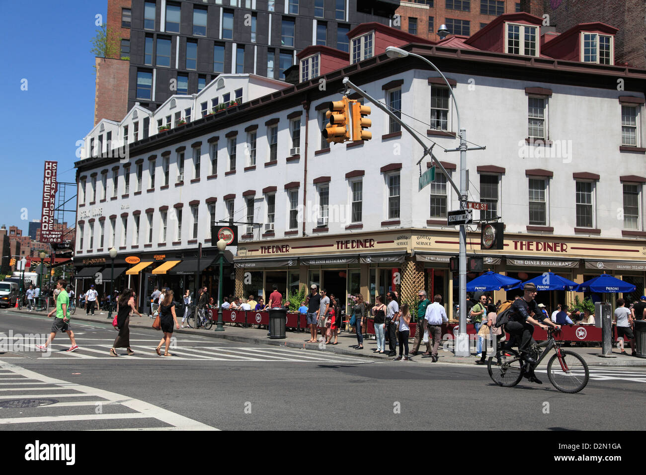Meatpacking District, trendy downtown neighborhood, Manhattan, New York City, United States of America, North America - Stock Image