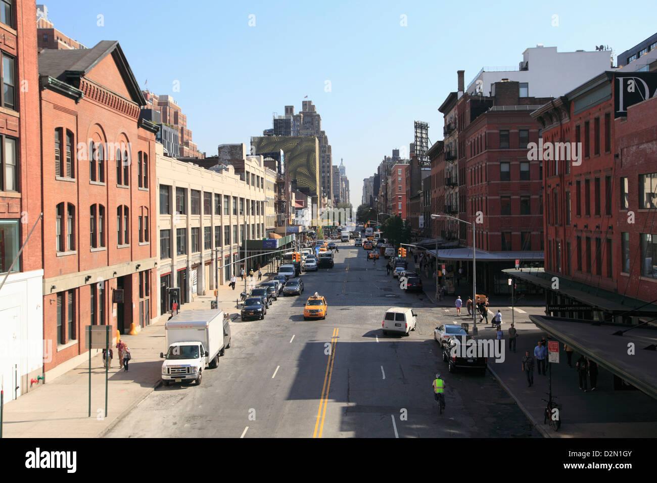 14th Street, Meatpacking District, trendy downtown neighborhood, Manhattan, New York City, USA - Stock Image