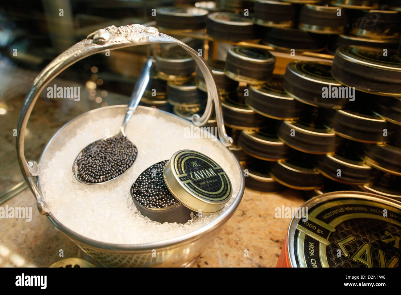 Russian caviar, St. Petersburg, Russia, Europe - Stock Image