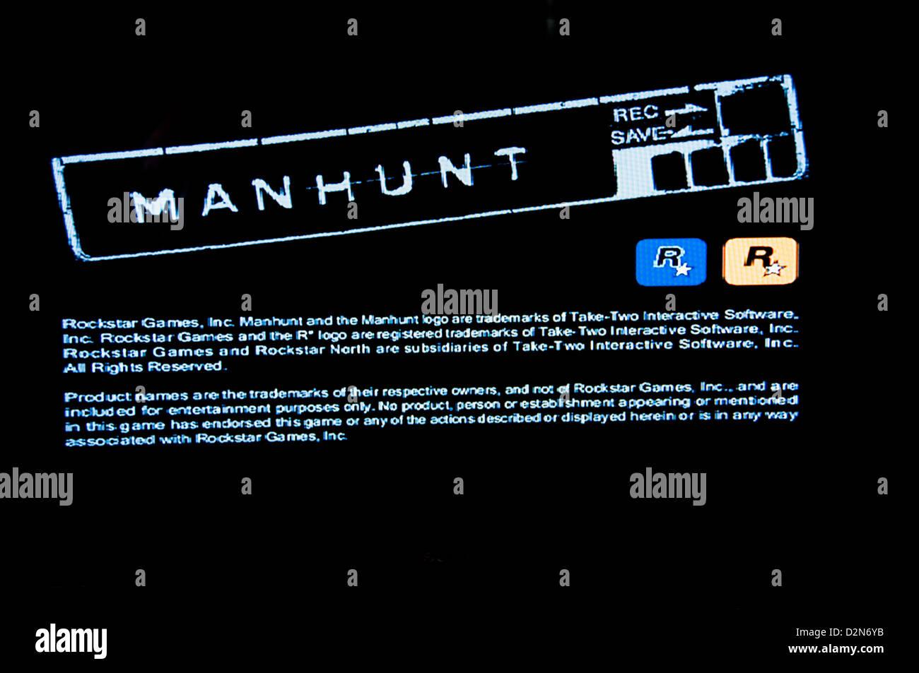 Manhunt violent horror psychological video game - Stock Image