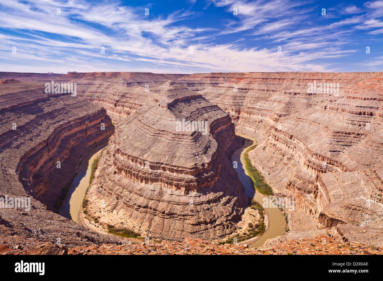 San Juan River, Goosenecks State Park, Utah, United States of America, North America - Stock Image