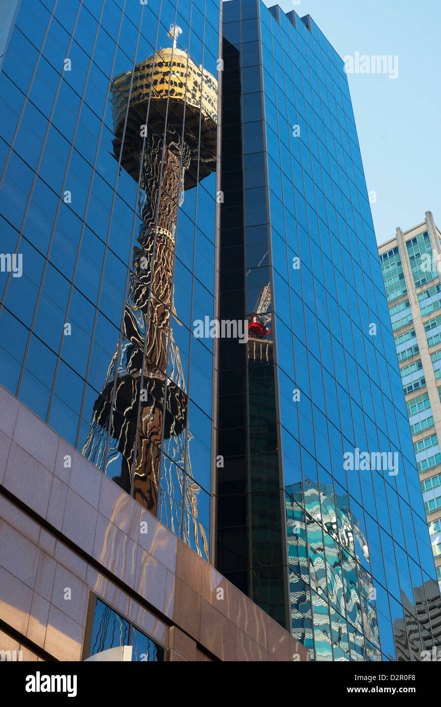 Reflection of Sydney Tower, Sydney, New South Wales, Australia, Pacific - Stock Image