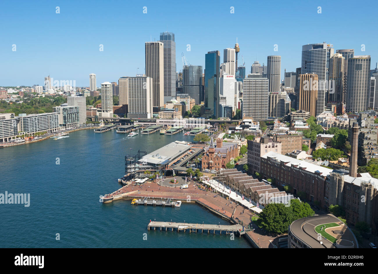 Circular Quay and The Rocks, Sydney, New South Wales, Australia, Pacific - Stock Image