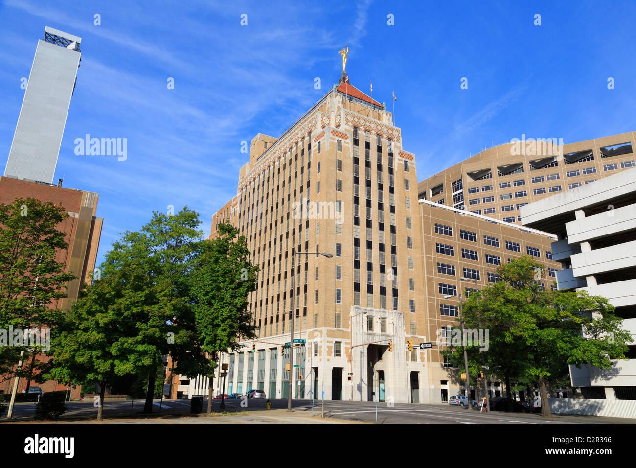 Alabama Power Company Building, Birmingham, Alabama, United States of America, North America - Stock Image