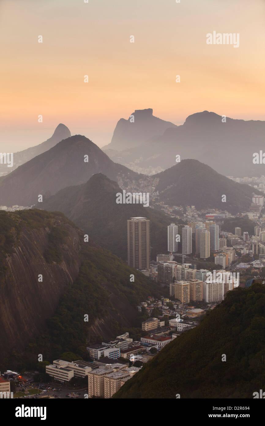 View of Urca and Botafogo, Rio de Janeiro, Brazil, South America - Stock Image
