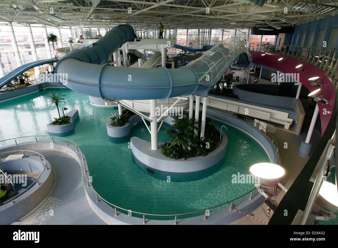 The new LC, Swansea. Pool general views. Stock Photo