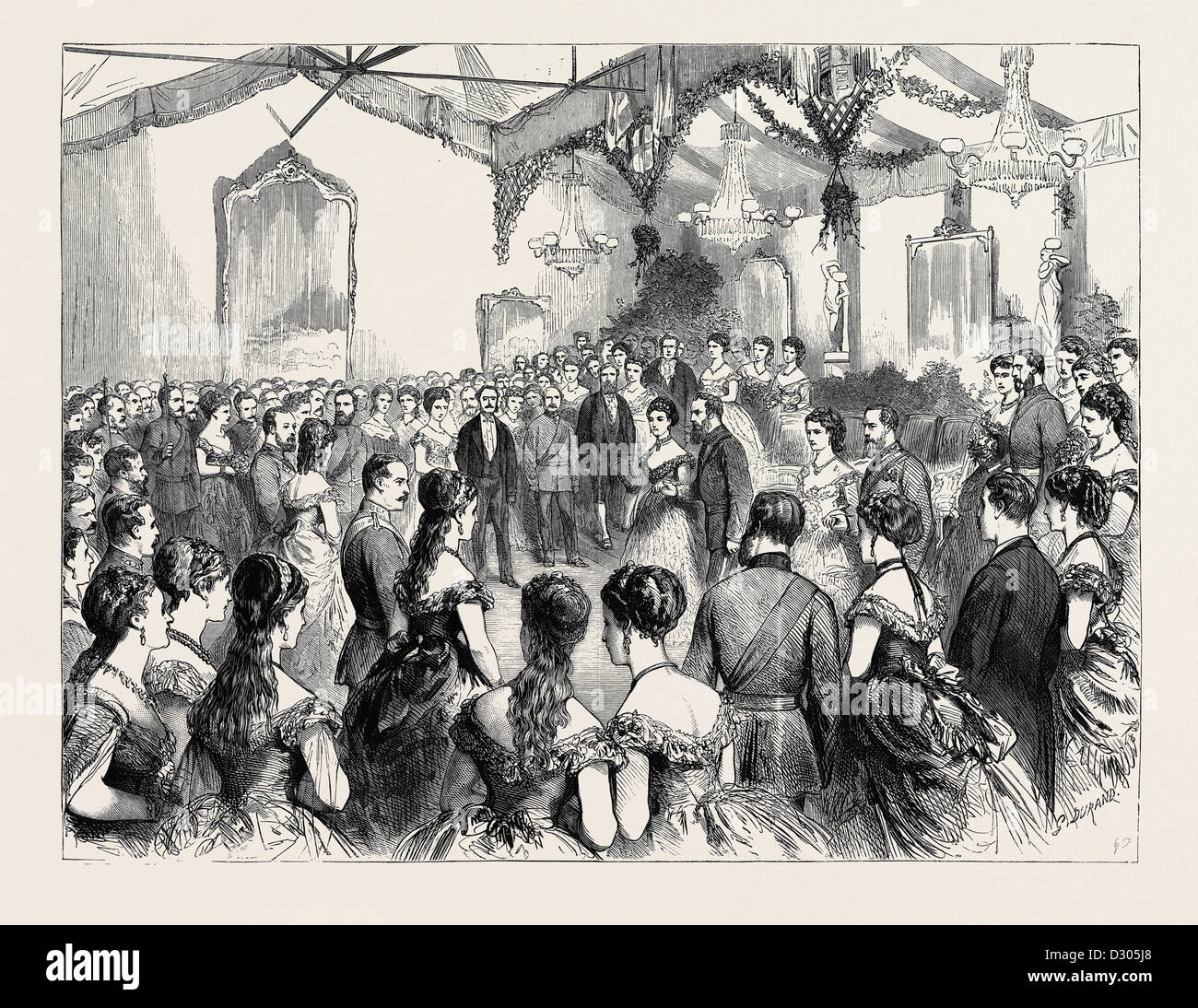 THE HONOURABLE ARTILLERY COMPANY'S BALL, 1870 - Stock Image