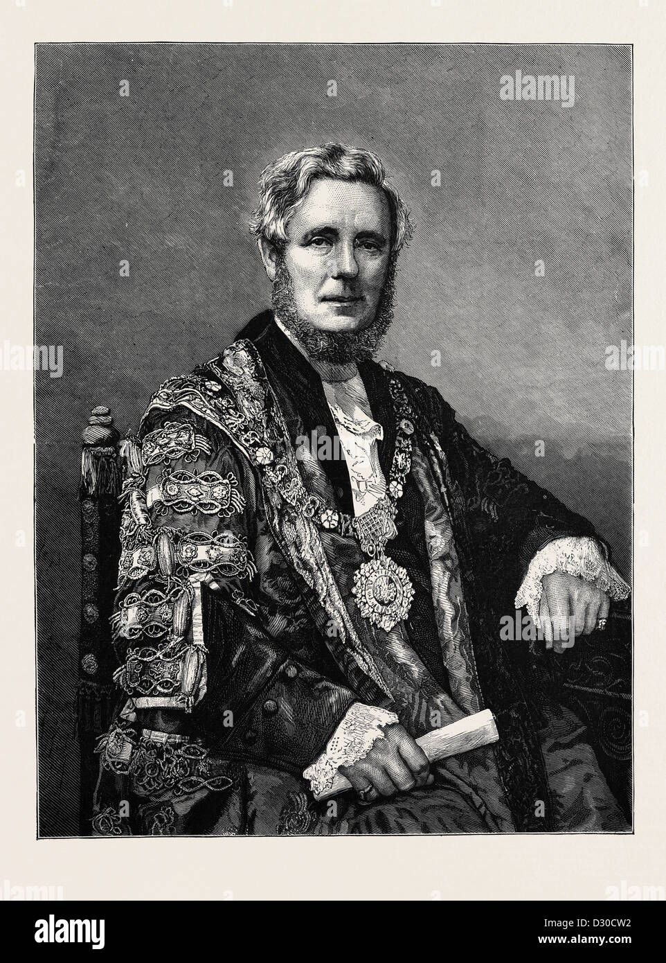 THE RIGHT HONOURABLE SIR SYDNEY HEDLEY WATERLOW, KNT., LORD MAYOR OF LONDON - Stock Image