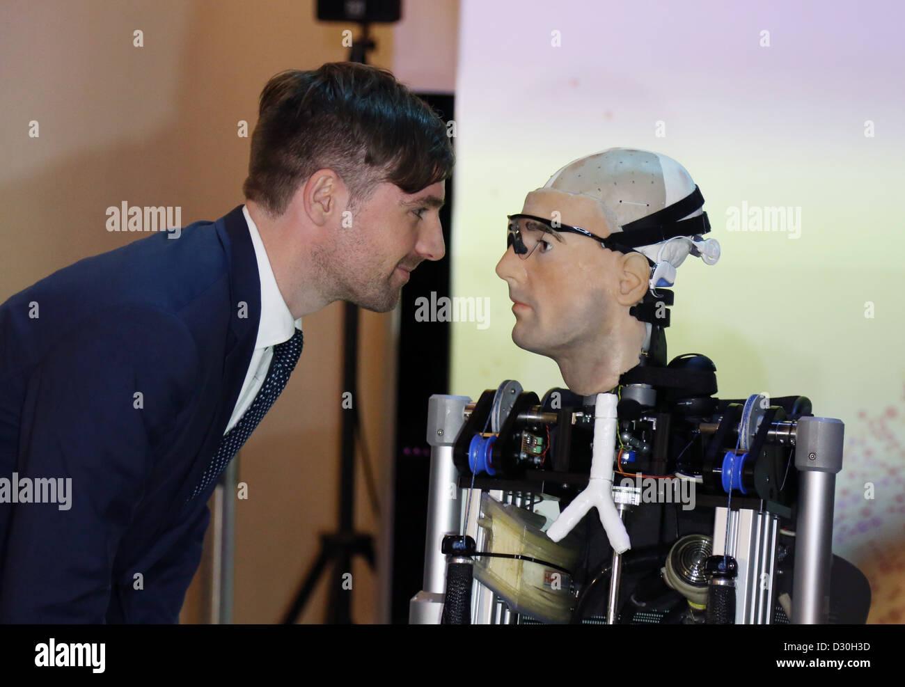 Rex Robot bionic man at Science Museum Bertolt Meyer - Stock Image