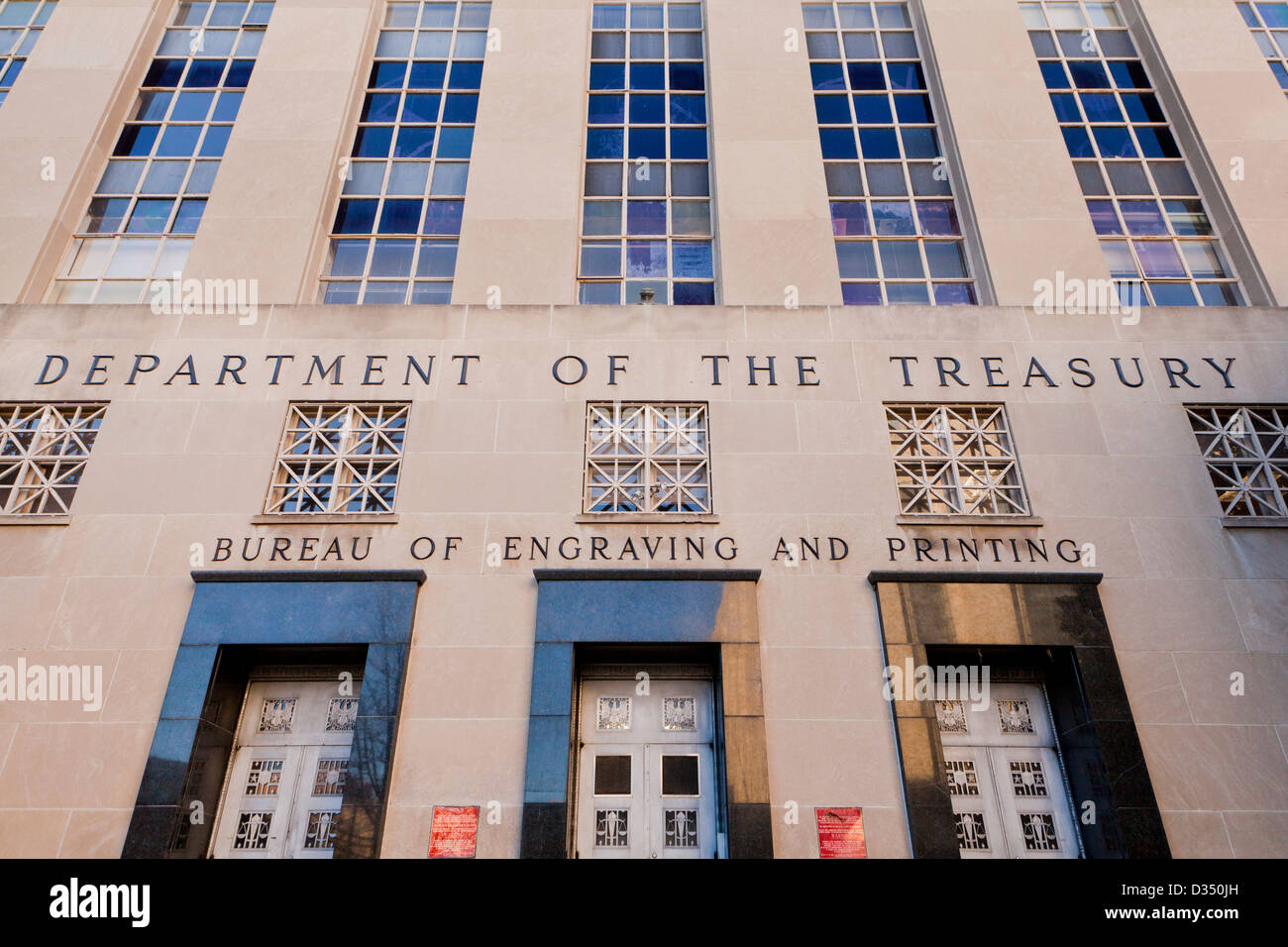 Bureau of engraving and printing department of the treasury stock