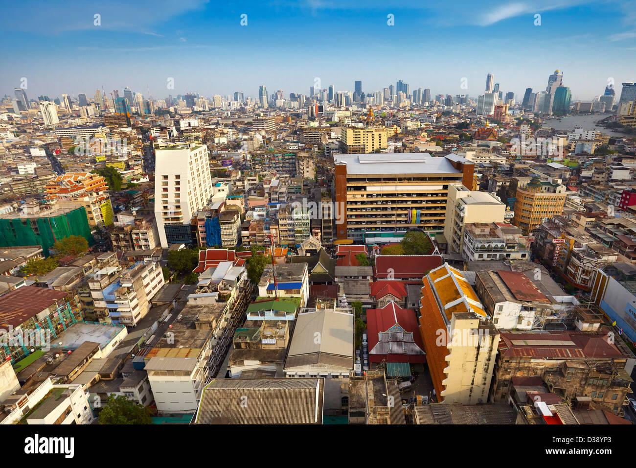 Bangkok skyline view from The Grand China Princess Hotel, Bangkok, Thailand - Stock Image