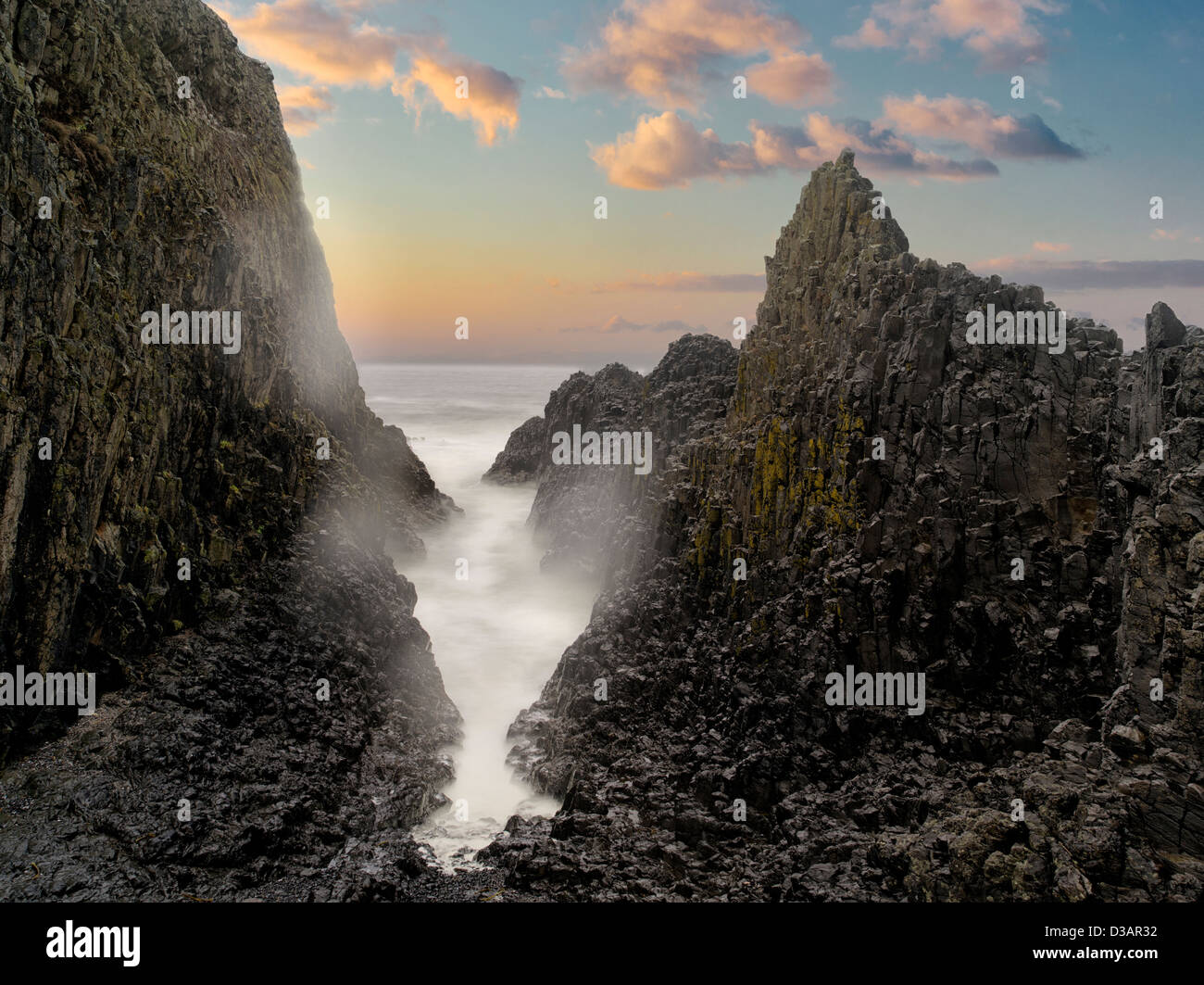 Rock formations at Seal Rock. Oregon - Stock Image