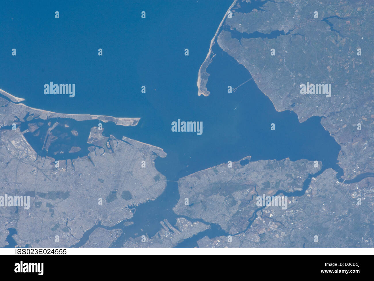 New York City, New Jersey (NASA, International Space Station Science, 03/14/10) - Stock Image