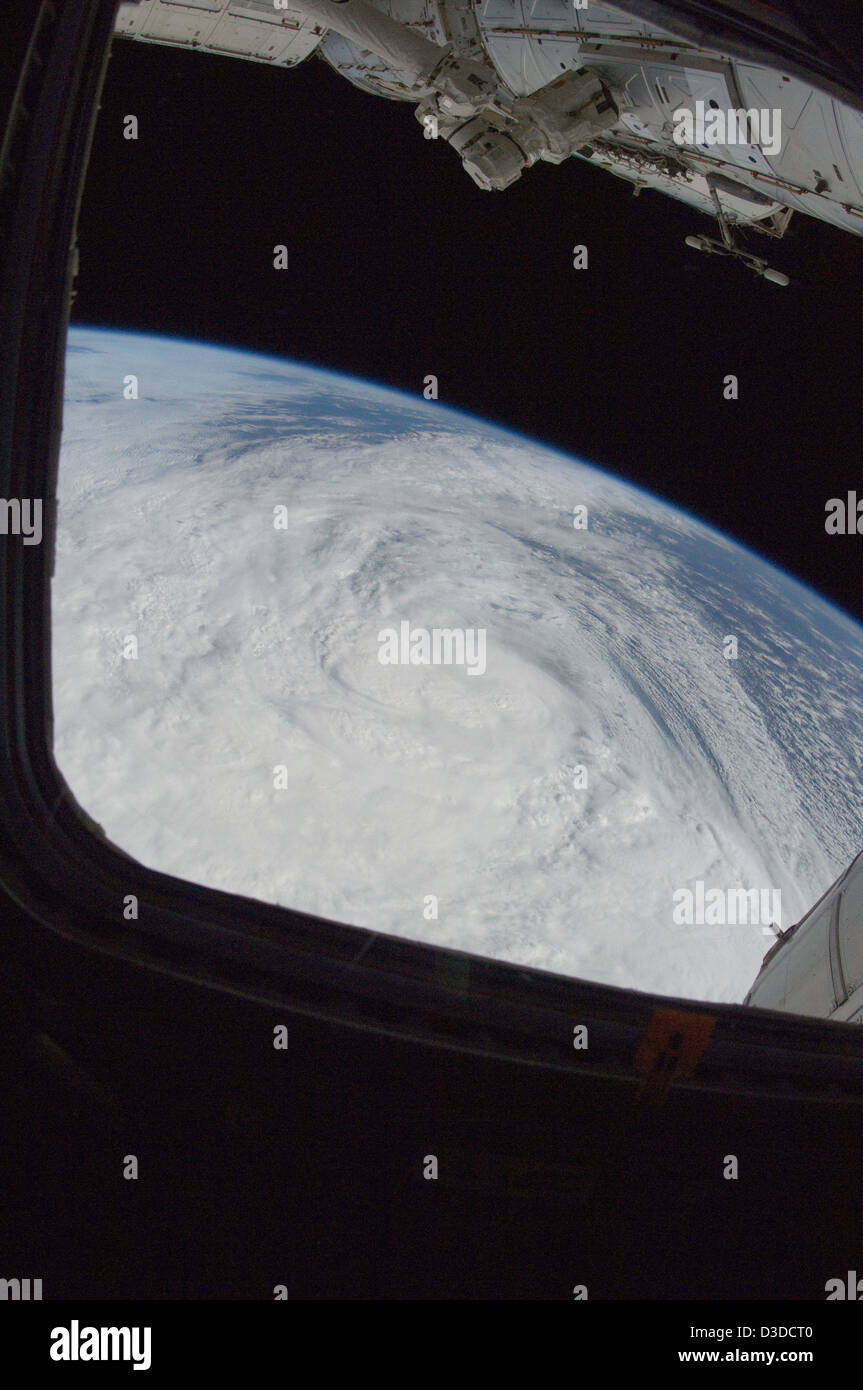 Hurricane Sandy (NASA, International Space Station Science, 10/29/12) - Stock Image