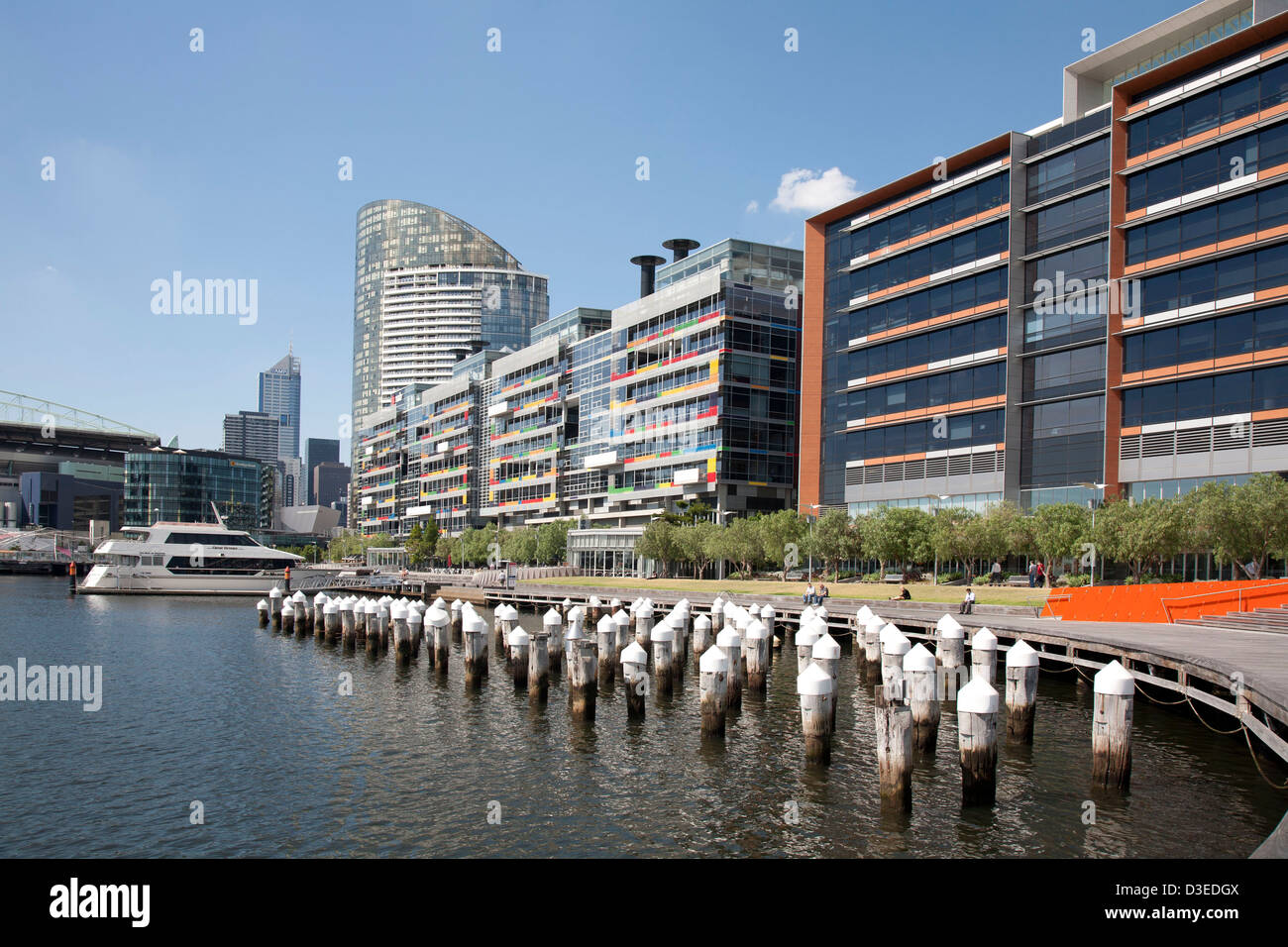 The environmentally friendly National Australia Bank building at Docklands Melbourne Victoria Australia - Stock Image