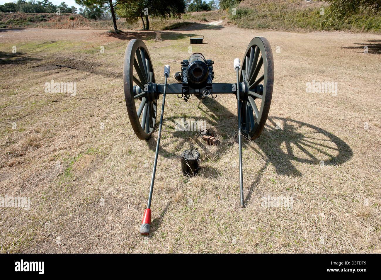 Civil War era cannon. - Stock Image