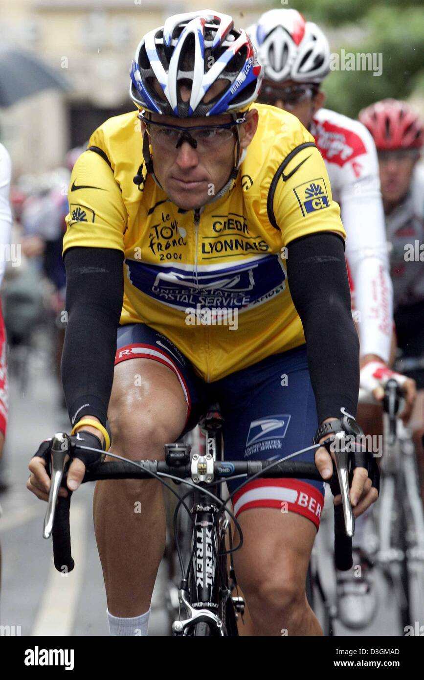 (dpa) - US cyclist Lance Armstrong of team US Postal wearing the yellow  jersey of the overall leader races during the 200.5 km long 5th stage of the  Tour de ... cd6fad143