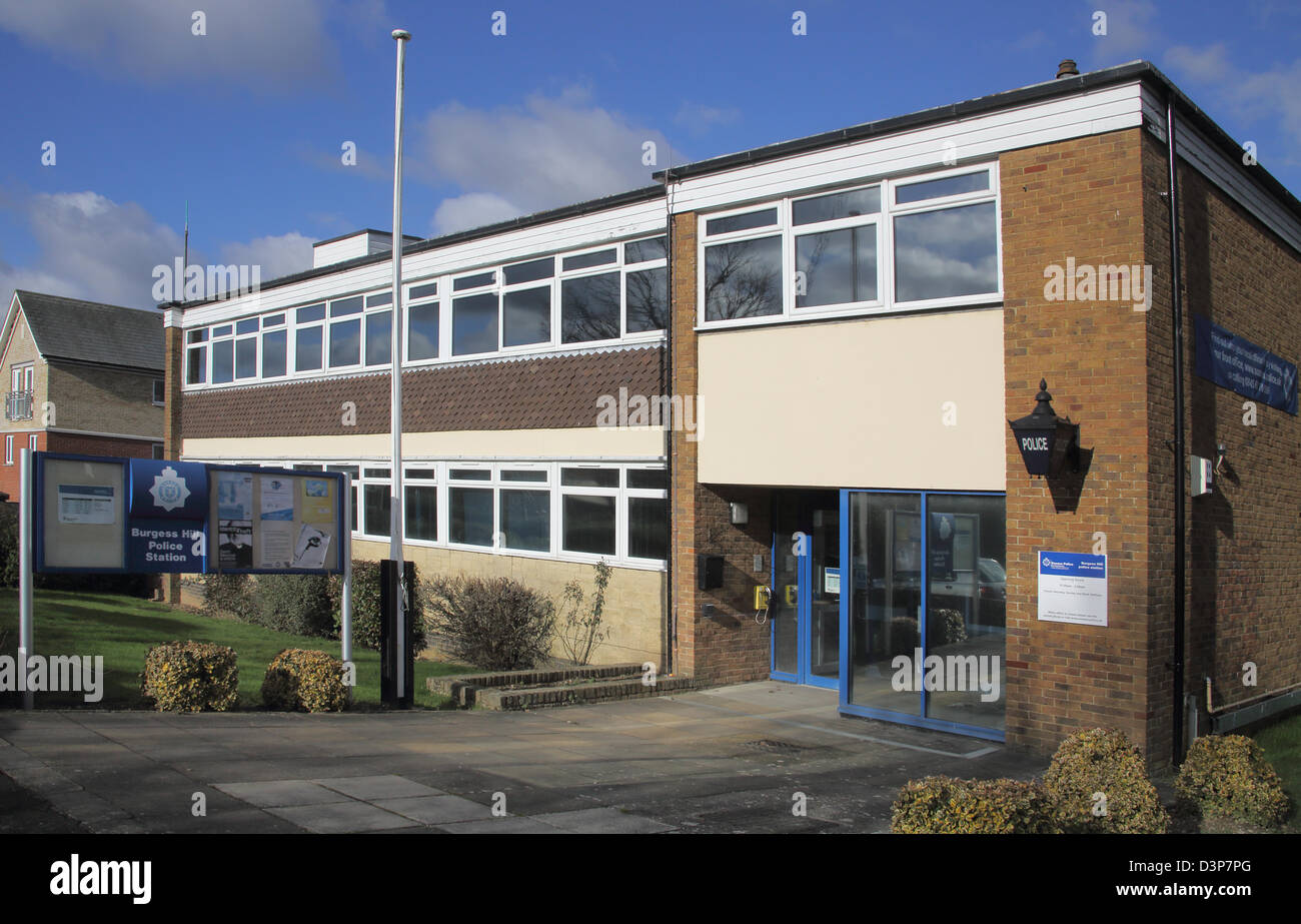 burgess hill police station west sussex Stock Photo