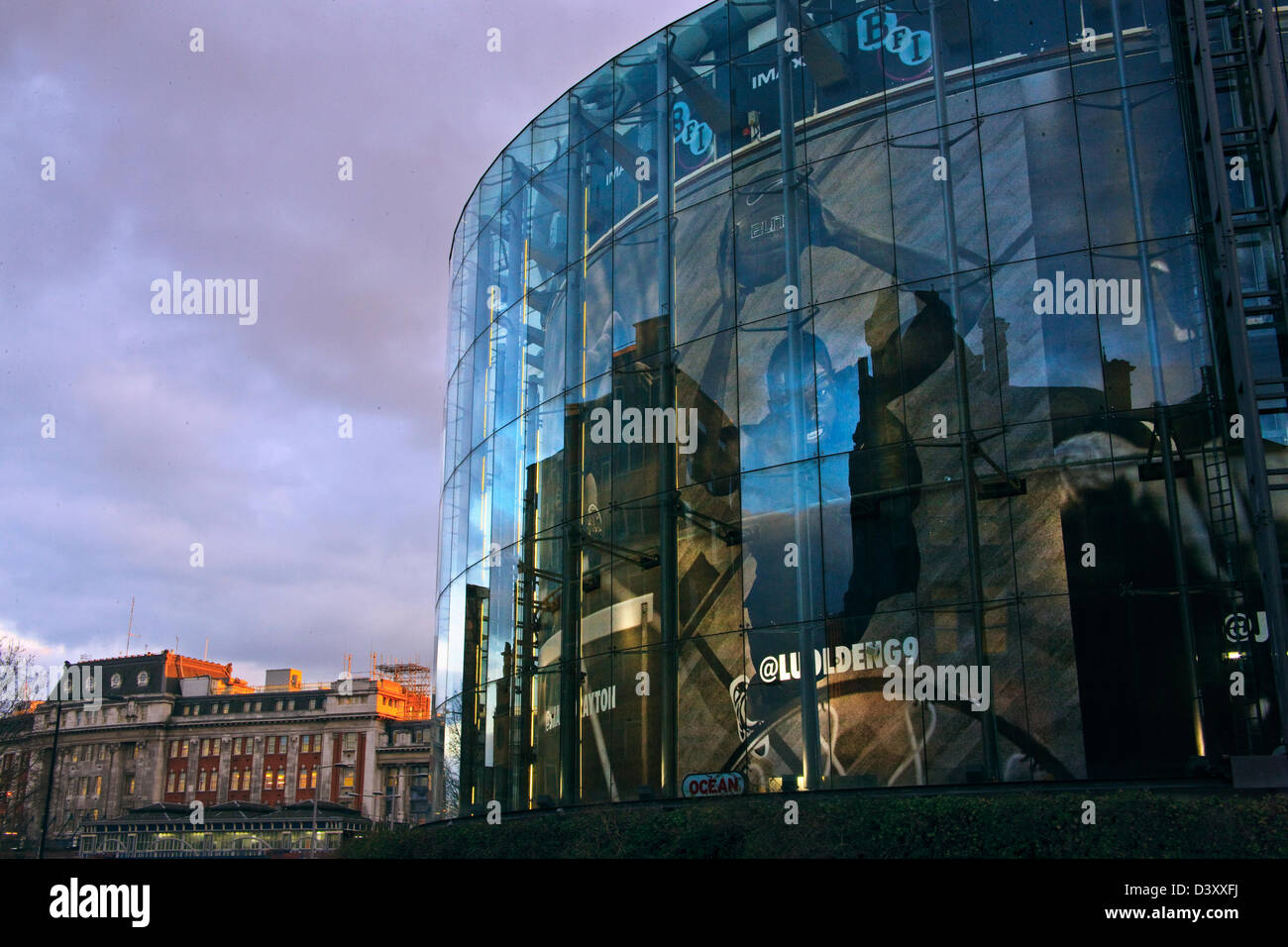 BFI IMAX cinema, Waterloo, London SE1, United Kingdom - Stock Image