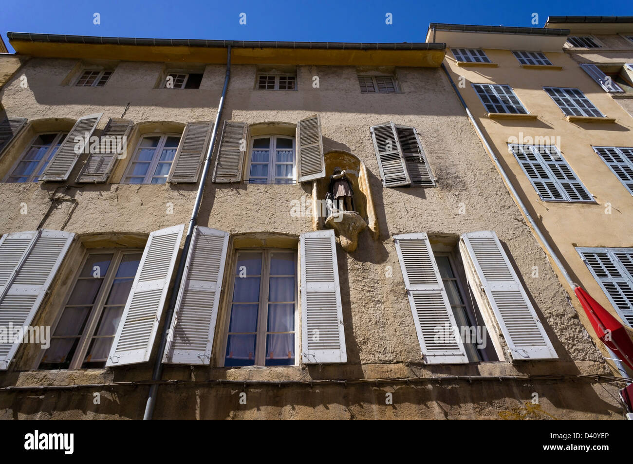 Houses in Aix-en-Provence, France - Stock Image