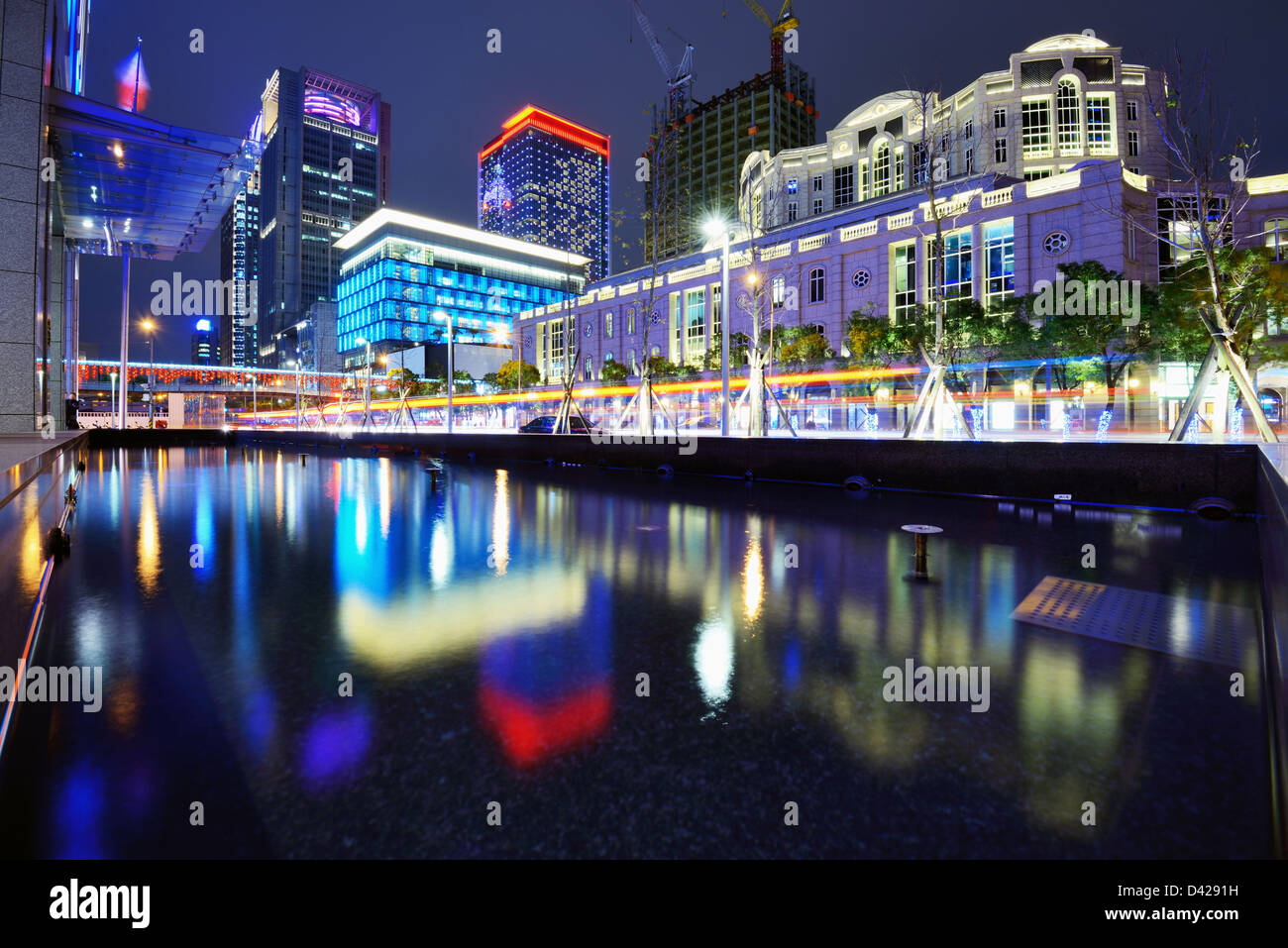 Modern buildings in Taipei, Taiwan. - Stock Image