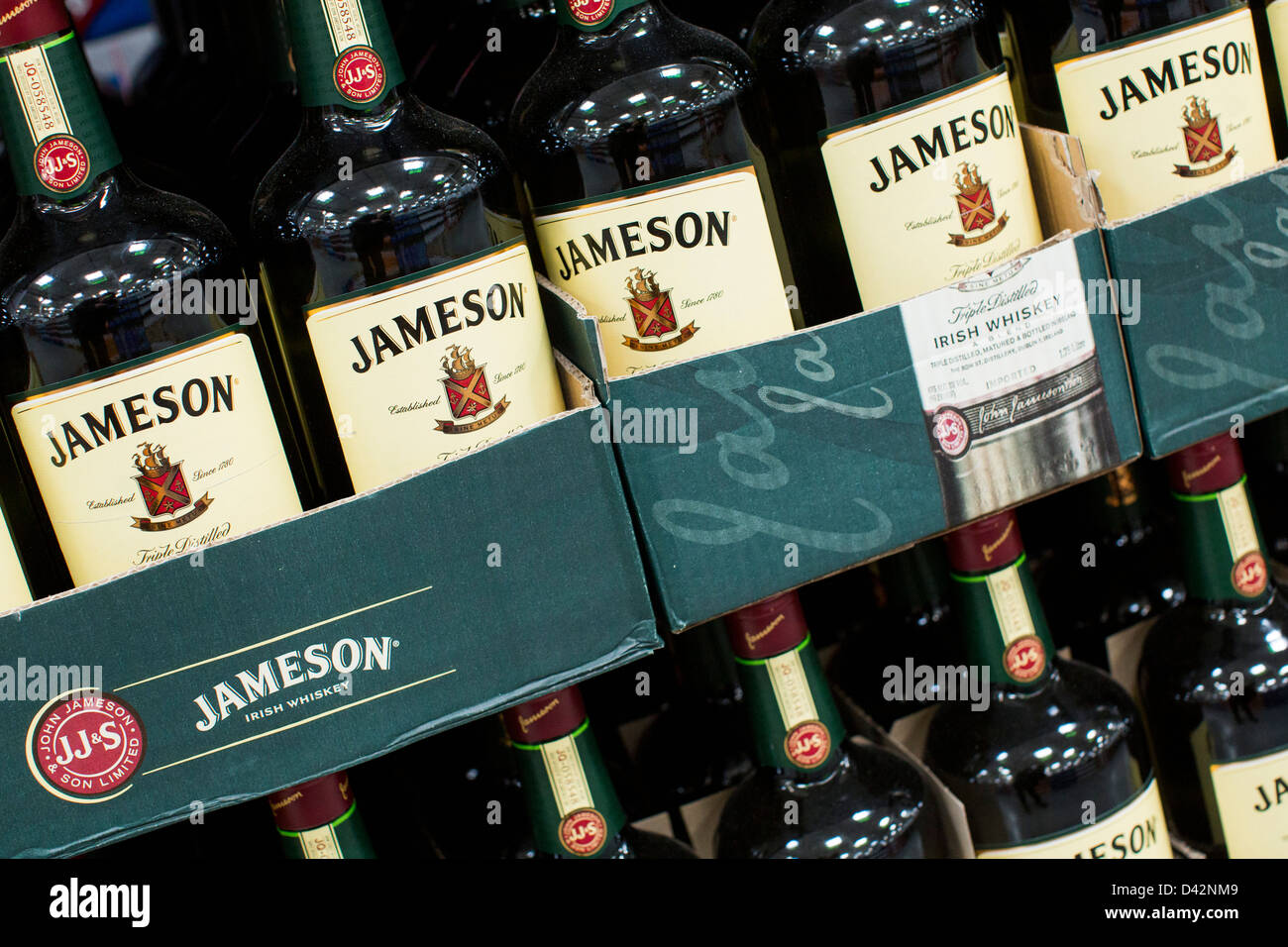 Jameson whiskey on display at a costco wholesale warehouse club jameson whiskey on display at a costco wholesale warehouse club thecheapjerseys Images