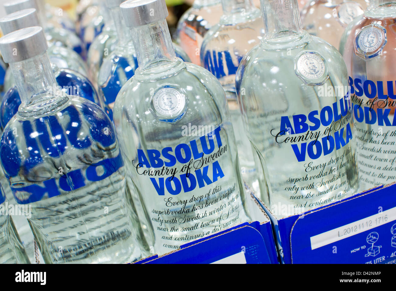 Absolut vodka on display at a costco wholesale warehouse club stock absolut vodka on display at a costco wholesale warehouse club thecheapjerseys Images