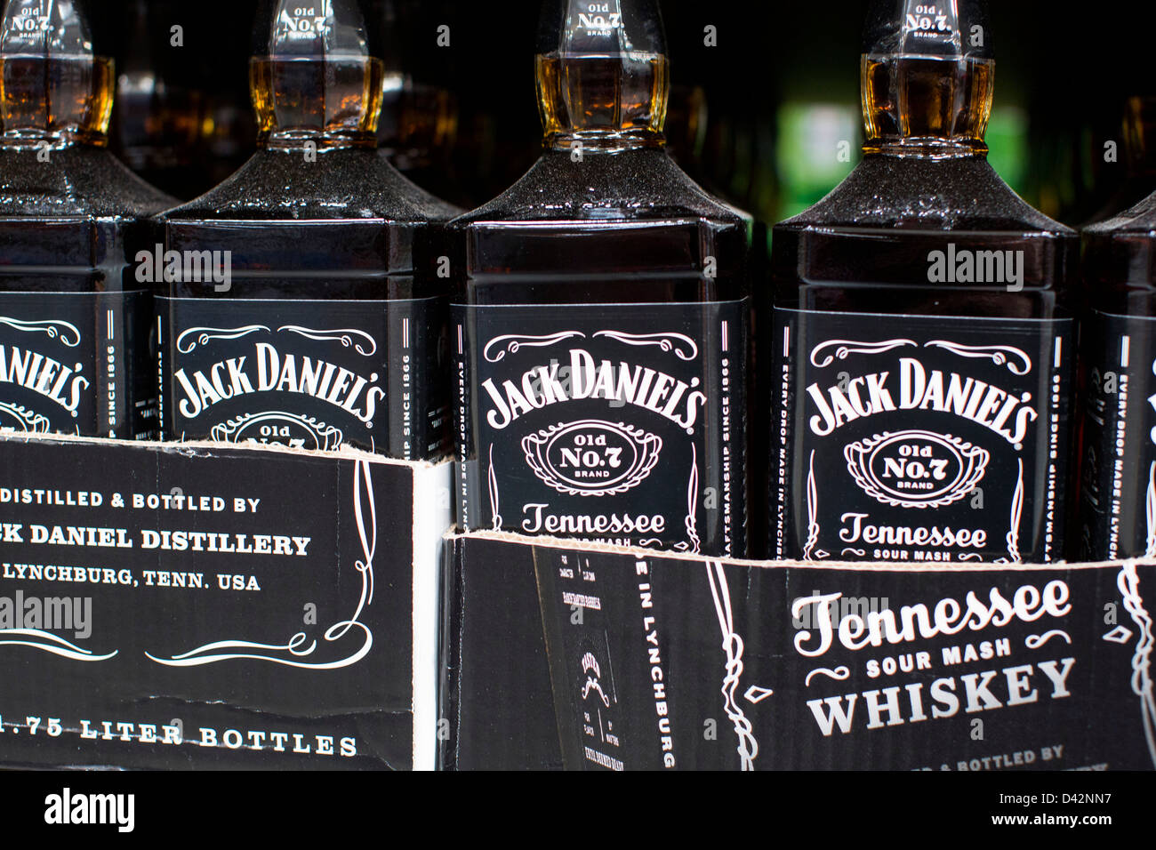 7eded363a2 Jack Daniel s whiskey on display at a Costco Wholesale Warehouse Club.