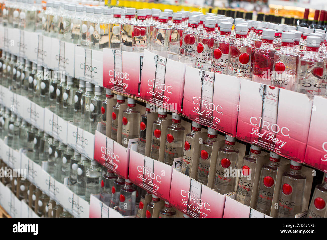 Ciroc vodka on display at a costco wholesale warehouse club stock ciroc vodka on display at a costco wholesale warehouse club thecheapjerseys Images
