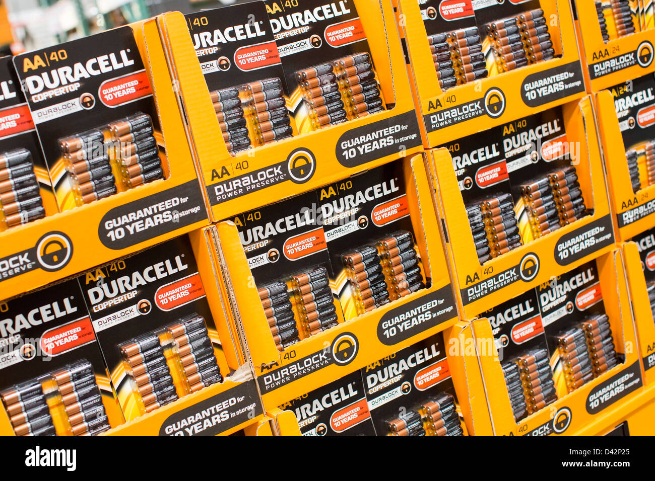Duracell batteries on display at a costco wholesale warehouse club duracell batteries on display at a costco wholesale warehouse club thecheapjerseys Images