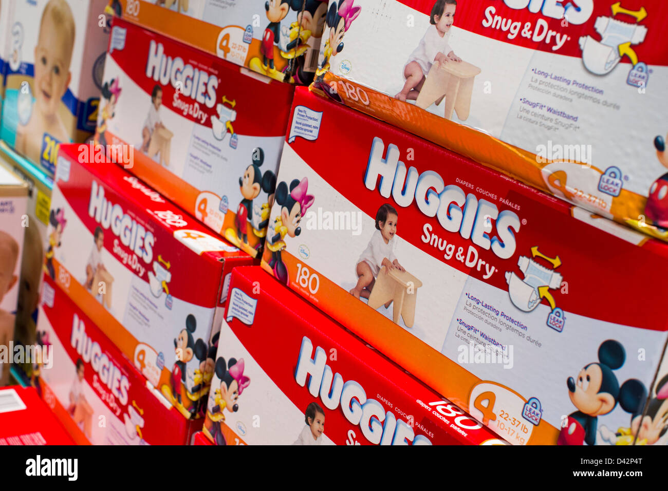 Huggies diapers on display at a costco wholesale warehouse club huggies diapers on display at a costco wholesale warehouse club thecheapjerseys Images