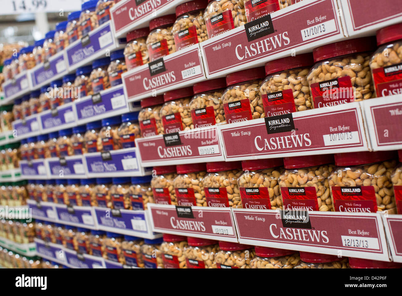 Cashew nuts on display at a costco wholesale warehouse club stock cashew nuts on display at a costco wholesale warehouse club thecheapjerseys Images