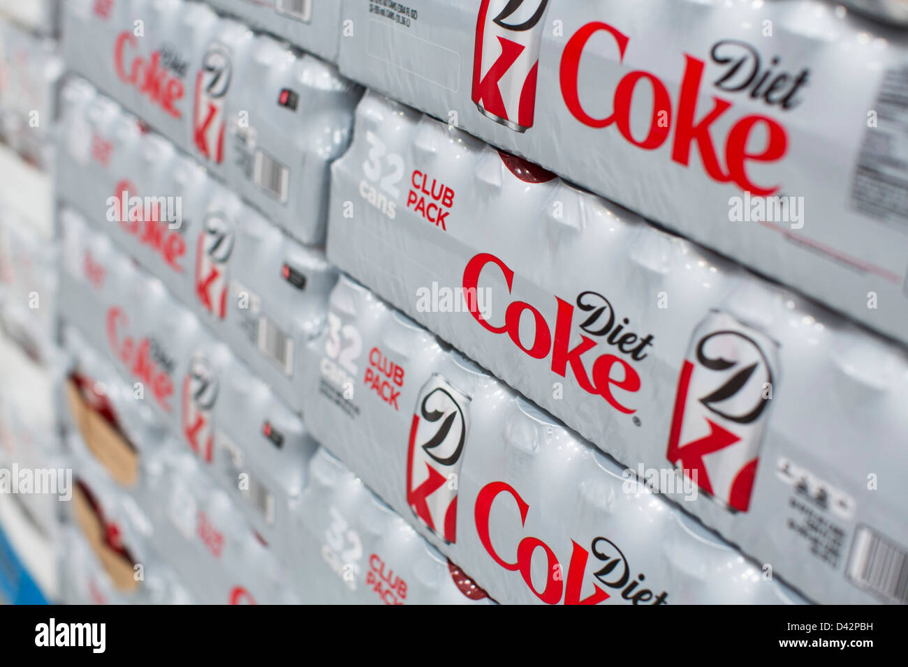 Diet coke on display at a costco wholesale warehouse club stock diet coke on display at a costco wholesale warehouse club thecheapjerseys Images