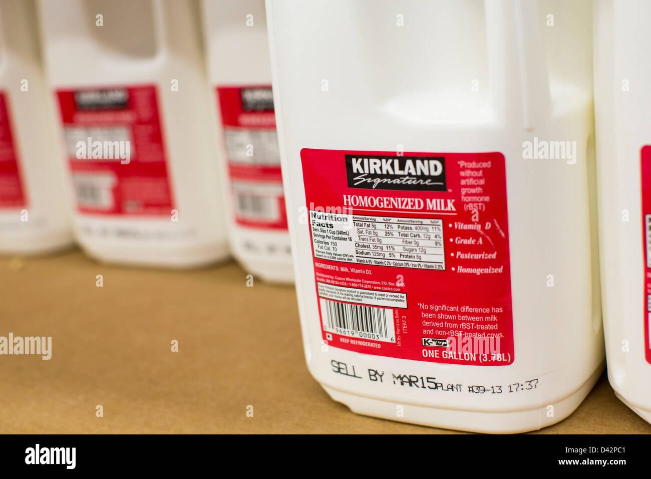 Kirkland milk on display at a costco wholesale warehouse club stock kirkland milk on display at a costco wholesale warehouse club thecheapjerseys Images