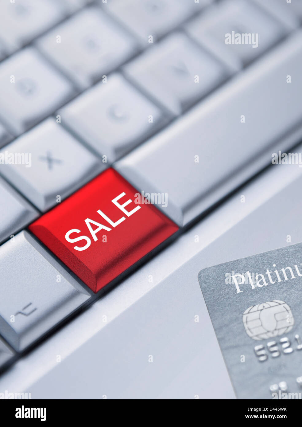 Online shopping in the sales concept - Stock Image