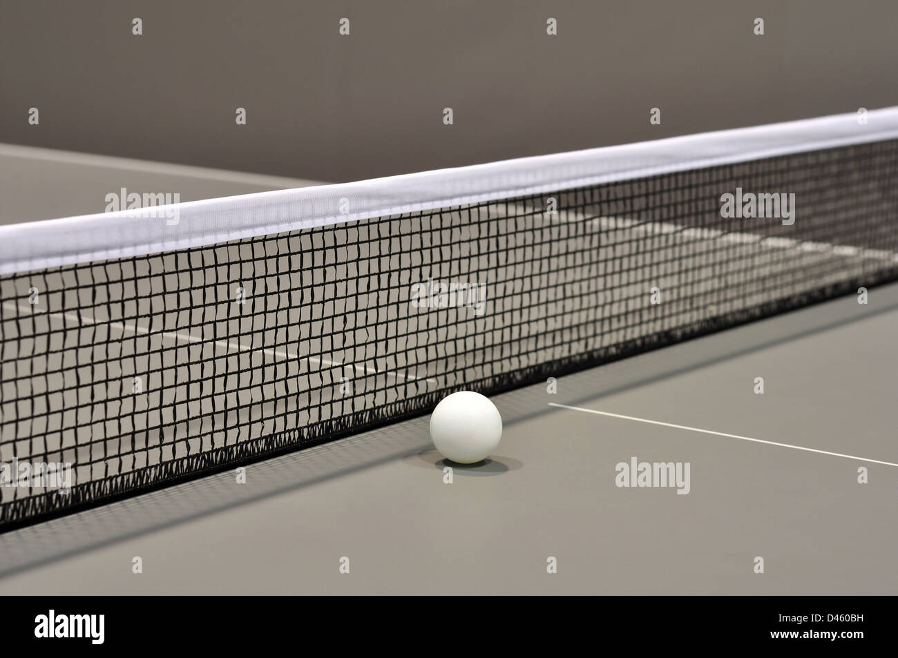 Table Tennis Still Life with Selective Focus closeup - Stock Image