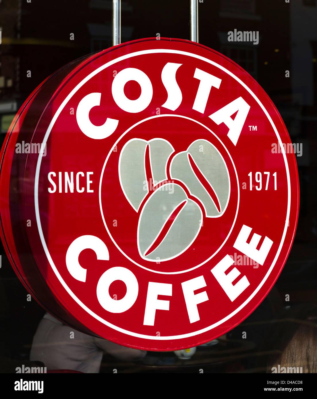 Costa coffee shop, UK - Stock Image