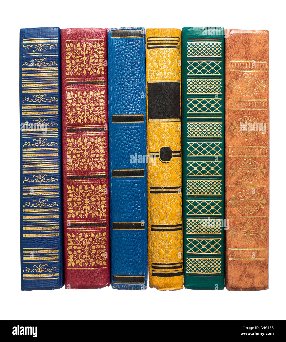 stack of old colorful books isolated on white Stock Photo: 54441895 ...