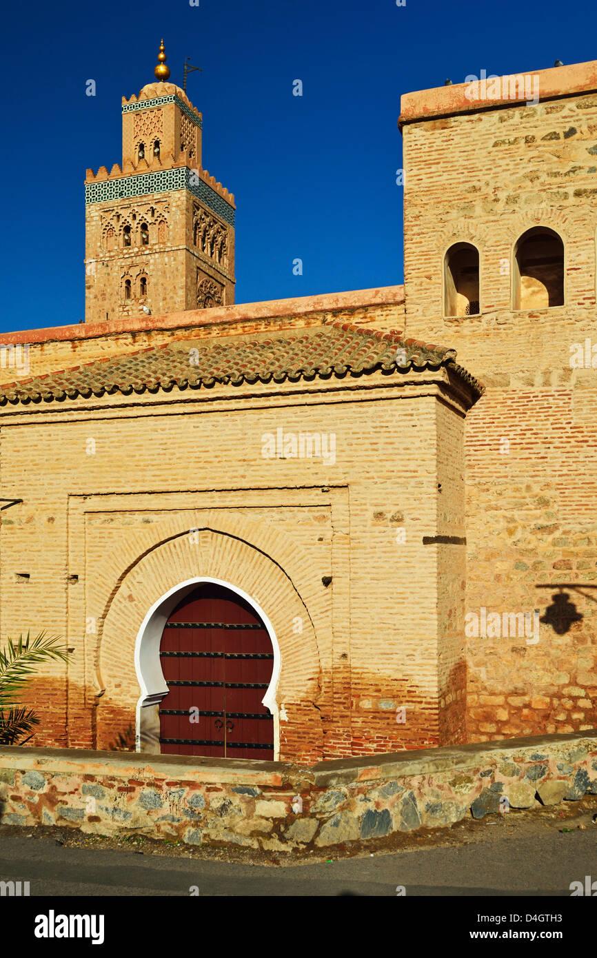 Koutoubia Mosque, Marrakesh, Morocco, North Africa - Stock Image