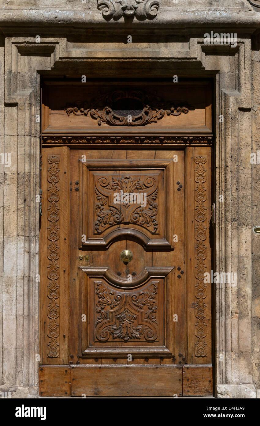Gate Of Hotel Montoron,Cours Mirabeau,Aix En Provence, France - Stock Image