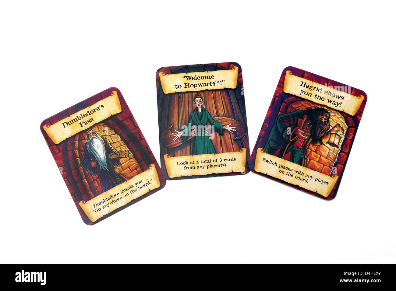 Harry Potter And The Philosopher's Stone Mystery At Hogwarts Boardgame Cards - Stock Image