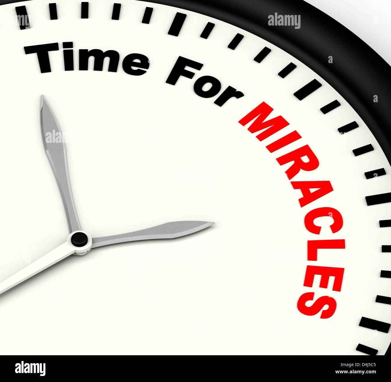 Time For Miracles Message Shows Faith In God - Stock Image