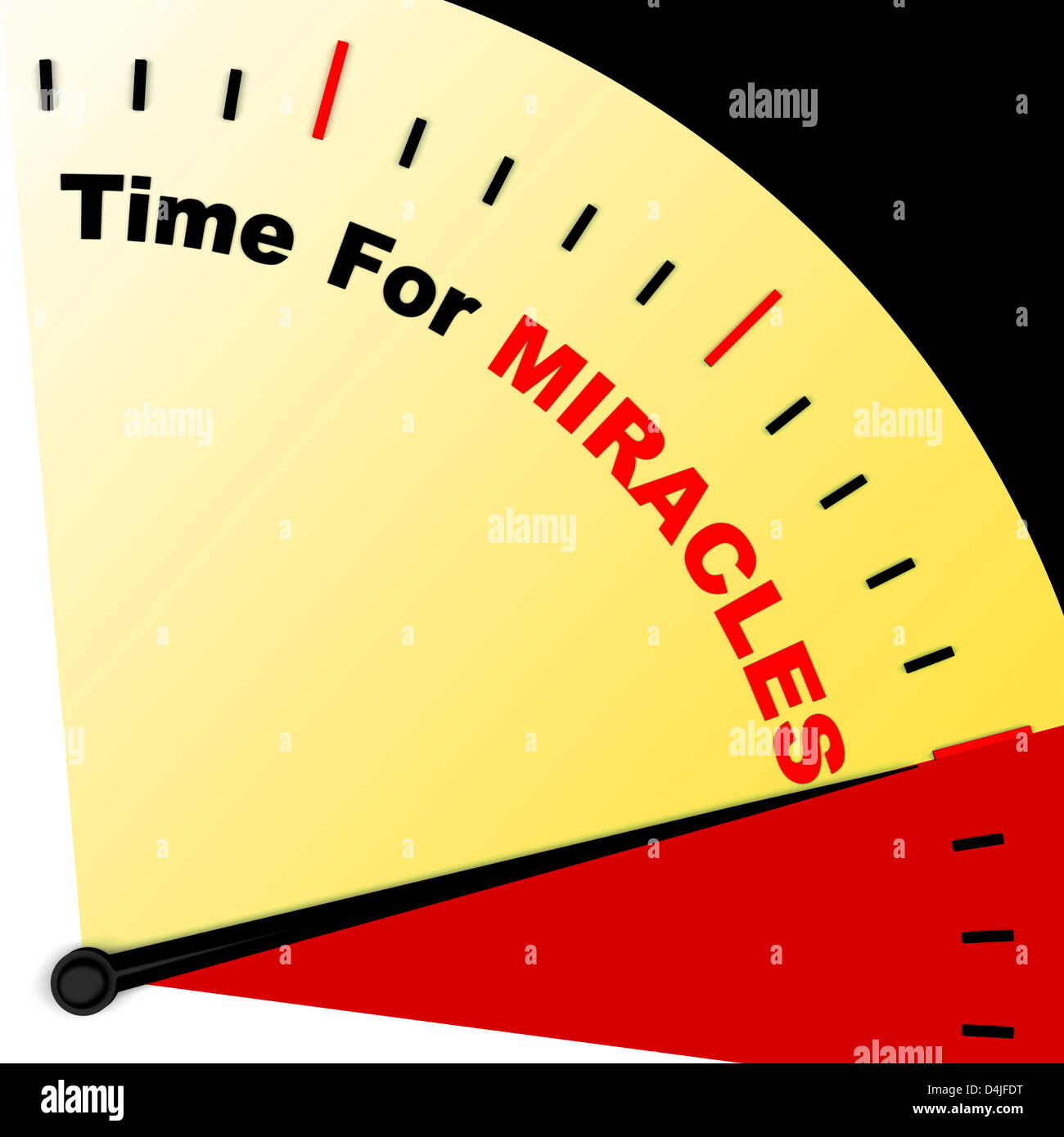 Time For Miracles Message Means Faith In God - Stock Image
