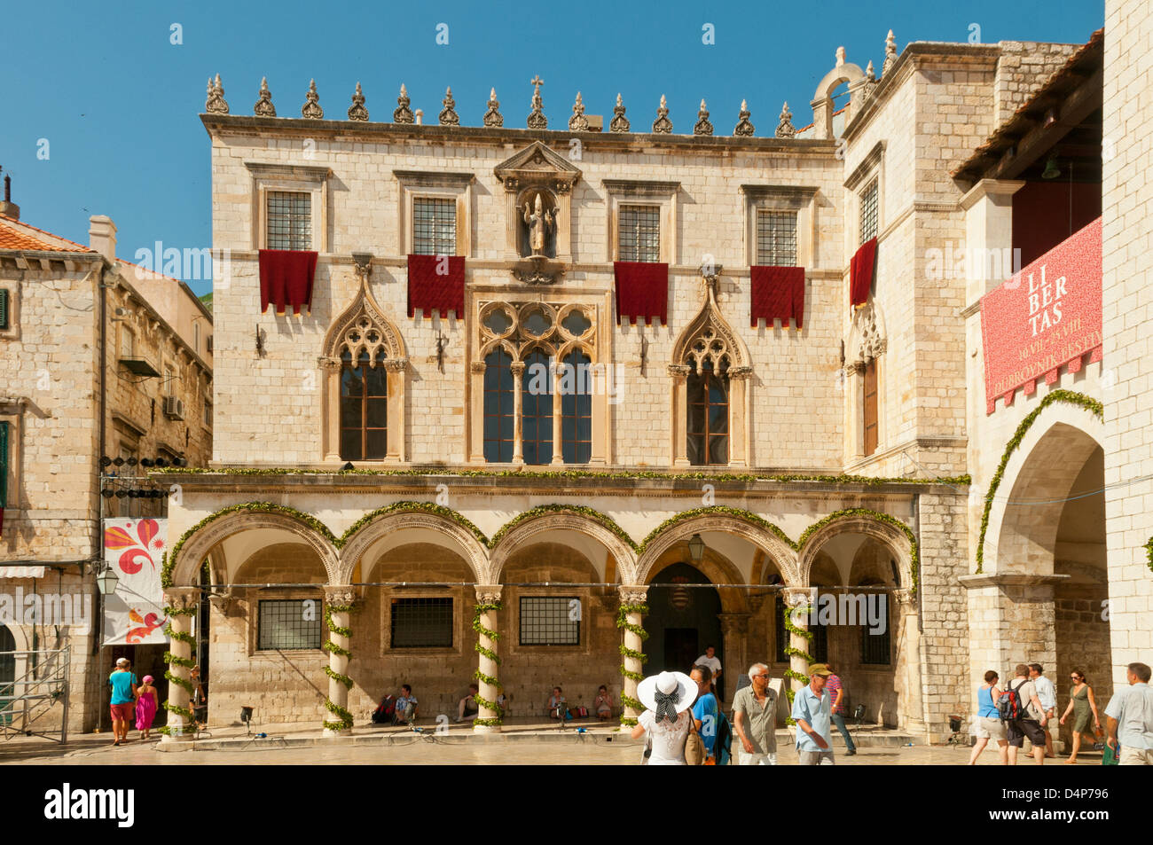 Sponza Palace, Dubrovnik, Croatia - Stock Image