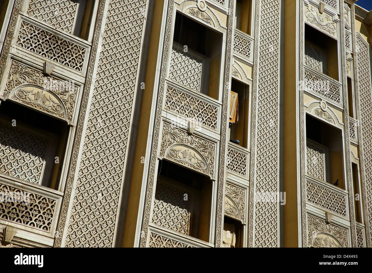 Architectural detail, Dubai, United Arab Emirates - Stock Image