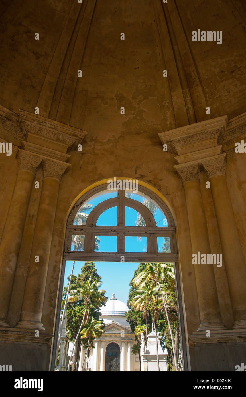 Beautiful old entrance to cemetery in Montevideo, Uruguay - Stock Image