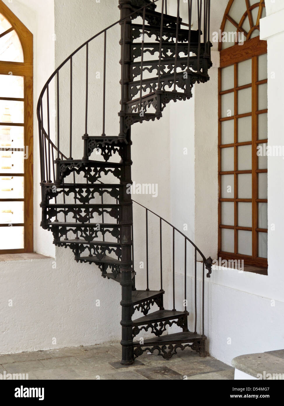 Cheap Decorative Th Century Cast Iron Spiral Stair Between Levels At  Textile Mill Converted To Center For The Arts San Agustin Etla With Spiral  Staircase.