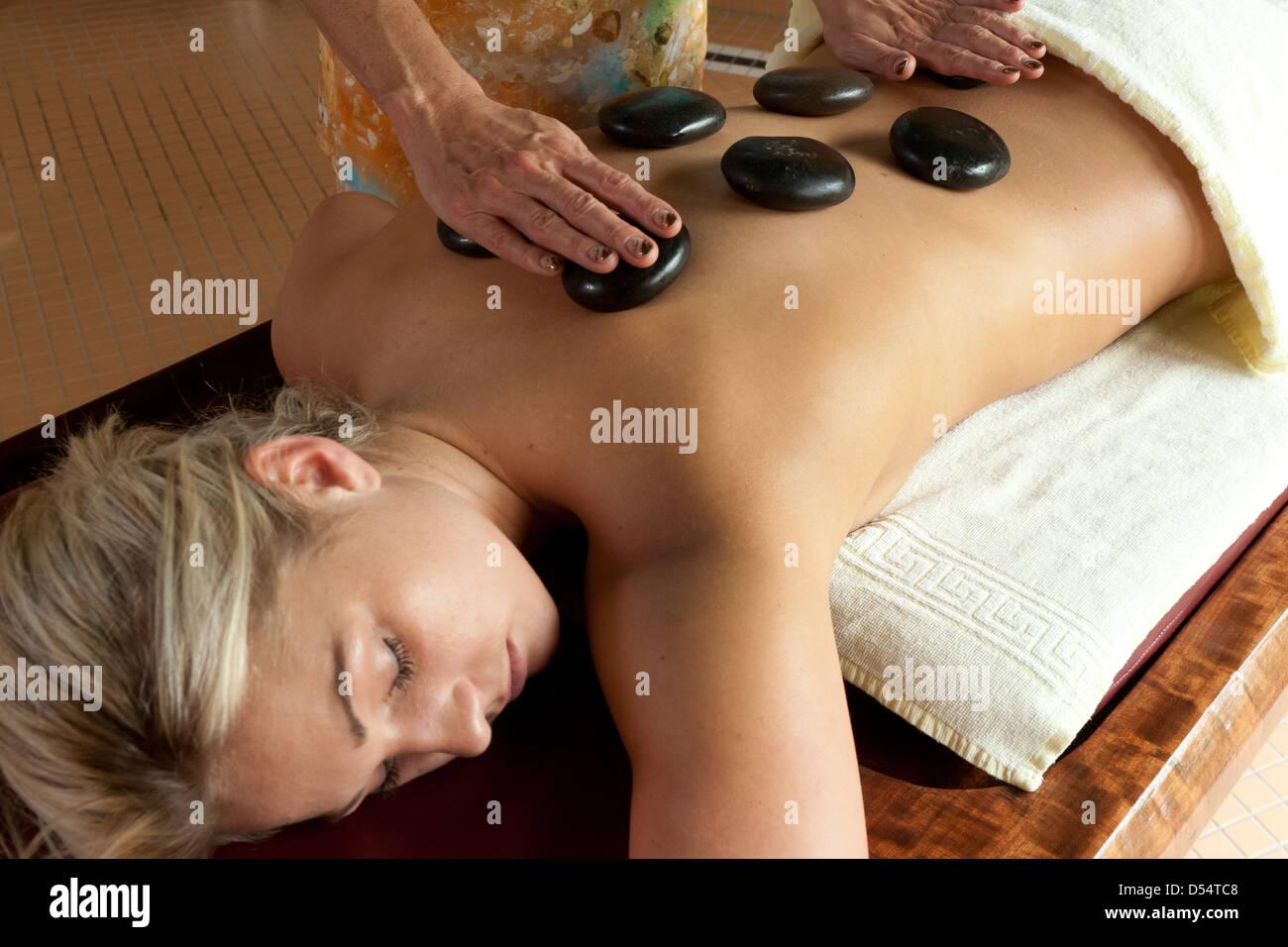 Badenweiler, Germany, Hot stone massage in the Vita Classica baths ...