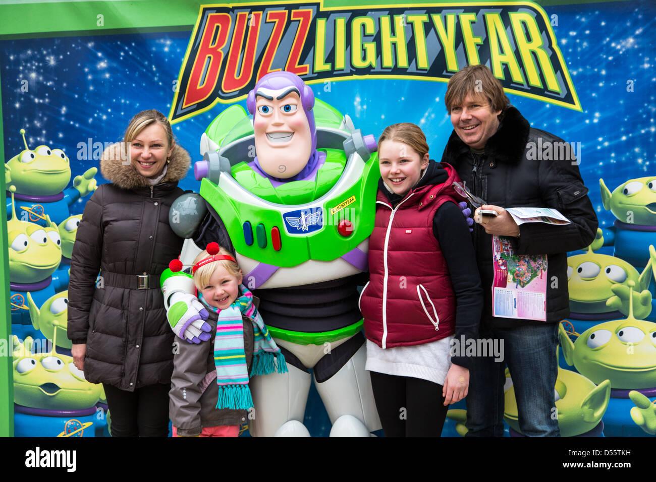 Buzz Lightyear Character Meet and Greet, Disneyland Paris - Stock Image