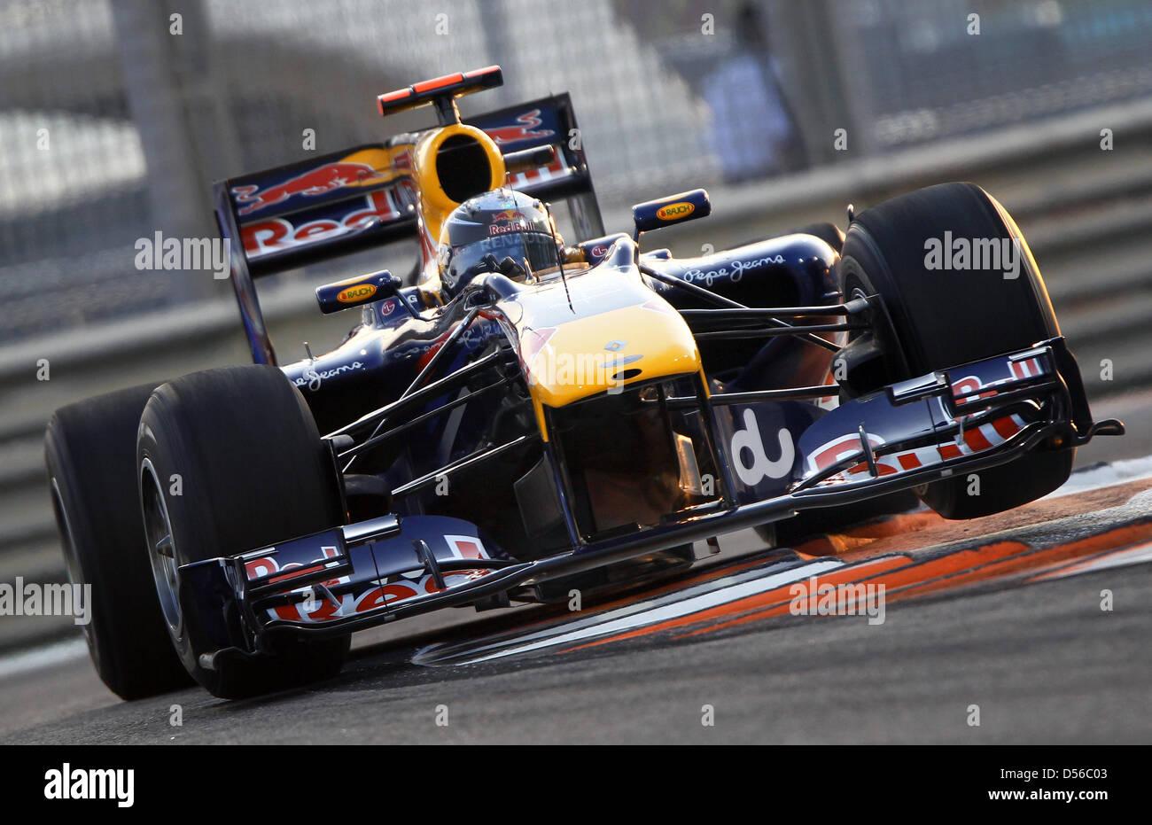 d598fdbe German driver Sebastian Vettel of Red Bull Racing during Qualfying session  at Yas Marina Circuit race track in Abu Dhabi, United Arab Emirates, ...